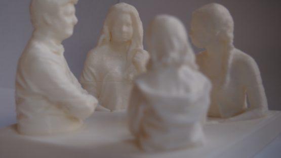 Family group 3D print 3D Druck Familien Gruppe